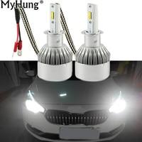 Car LED 1pair 72W 7600LM H4 Headlight H7 H1 12V H11 H8 9005 HB4 9006 6000K