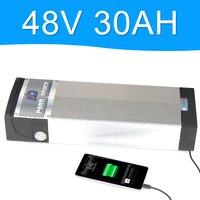 48V 2000 ワットのリチウム電池 48V 30AH と 5V USB ポートアルミ合金ラック背面のバッテリーパック 48 48v 電動自転車 48v 8fun バッテリー