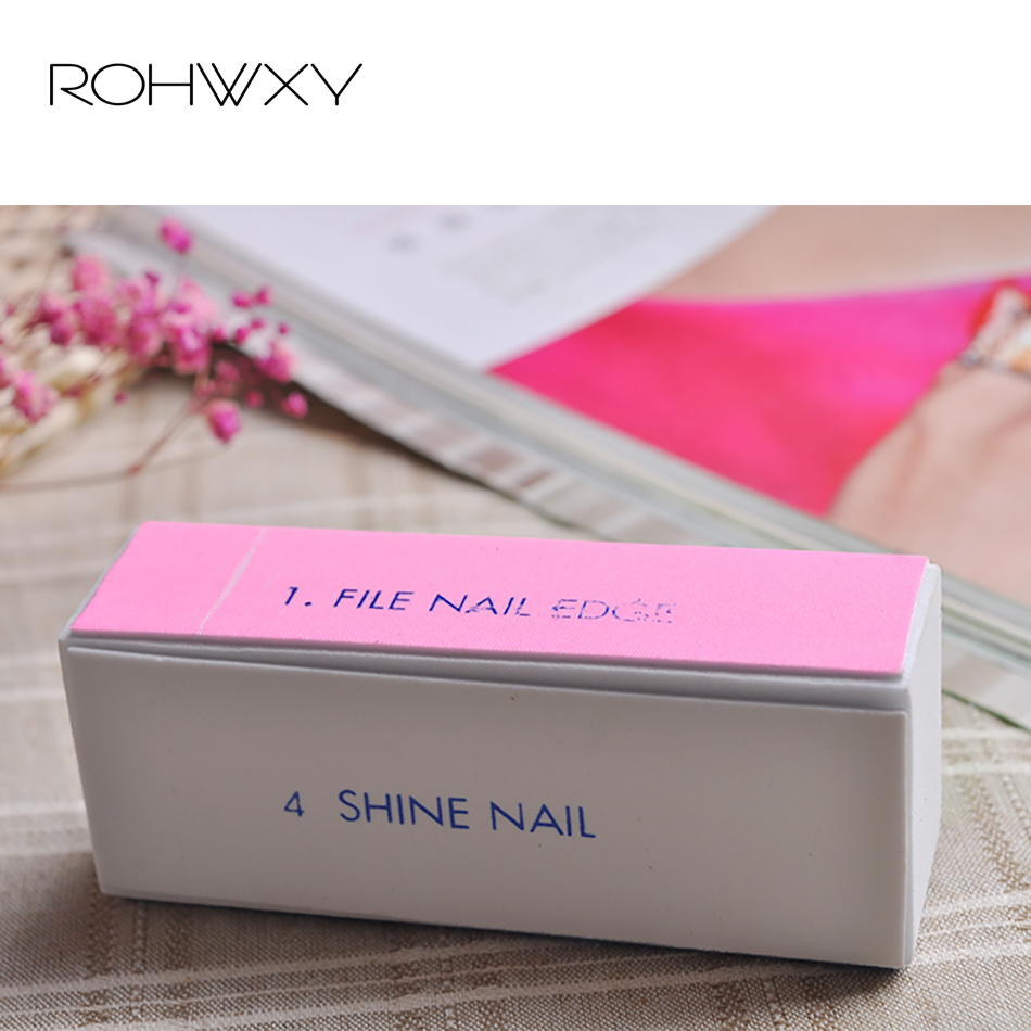ROHWXY 3 Pcs Nail File Pros  Nail Art Polisher 4 Way Nail Buffer Set Files Nail All For Manicure UV Gel Polish Tools
