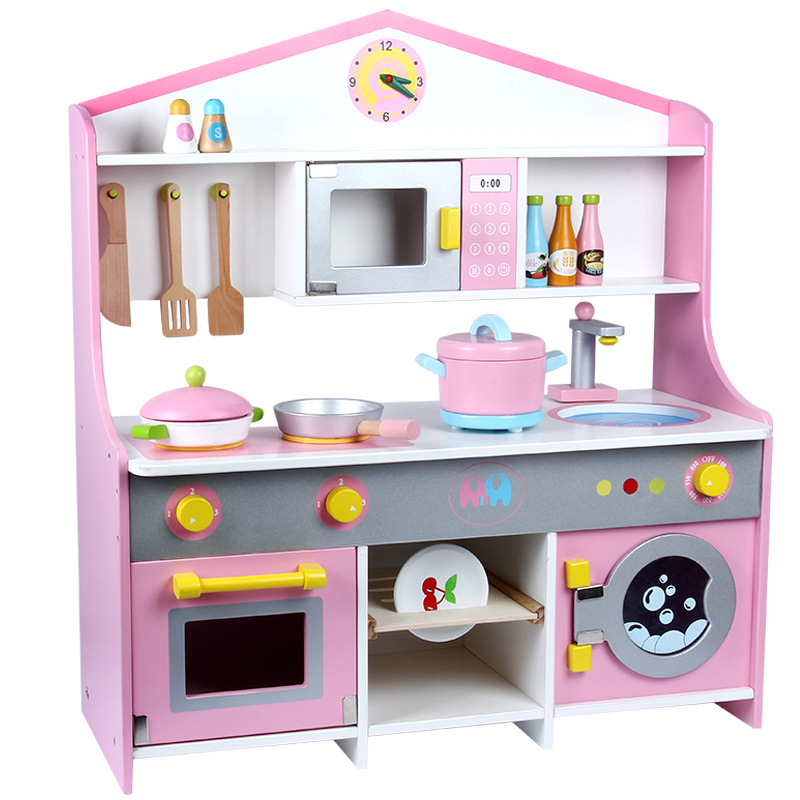 US $98.59 15% OFF|New children Japanese style wooden kitchen toys  simulation kitchen cooking toy kids pretend play toys-in Kitchen Toys from  Toys & ...