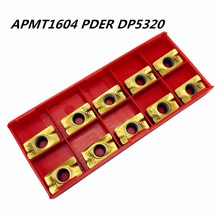 10PCS Lathe tool APMT1604 PDER DP5320 new high quality carbide blade turning tools APMT1604 coated lathe tool CNC milling cutter цена