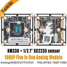 1080 P/720 P orijinal XM güvenlik kamerası kurulu CMOS HD AHD 2.0/1.0 MP modülü AHD/ XVI/TVI/CVI kamera