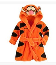 Hot Selling 2018 Spring Autumn Children's Pajamas Robe kids Casual Cute Bathrobes Baby homewear Boys girls Cartoon 3 D Romper
