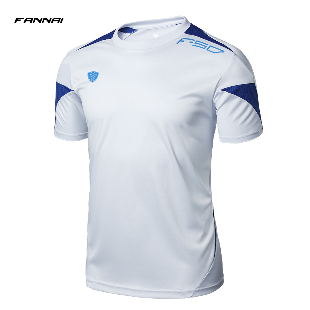 FANNAI Gym Sport T Shirt Short Sleeves Running Shirt Men Tees&Tops Summer Fitness Jersey Quick Dry Training Men'S Sportswear