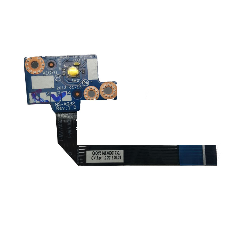 Computer & Office Excellent For Lenovo Y510p Y500 Ns-a032 Usb Power Switch Board With Cable 100% Tested Large Assortment
