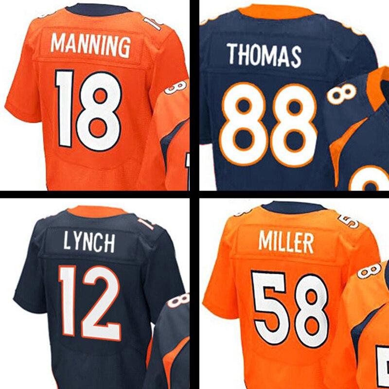 Mens 58 Von Miller Adult 18 Peyton Manning 12 Paxton Lynch 88 Nike Womens  Home Game Jersey Denver Broncos Von Miller 58 .. Nike Mens Color Rush ... 652c00a2d
