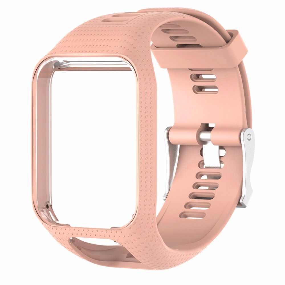 Силиконовый сменный Браслет для часов Ремешок для TomTom Runner 2 3 Spark 3 gps часы