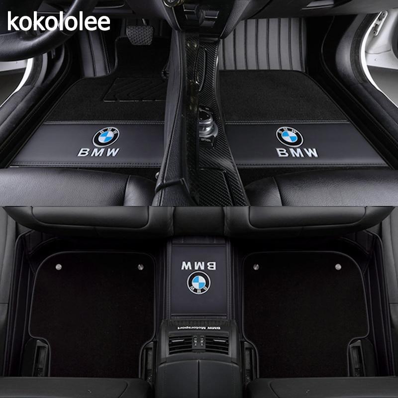 купить kokololee Custom car floor mats for BMW all model X3 X1 X4 X5 X6 Z4 525 520 f30 f10 e46 e90 e60 e39 e84 e83 car styling онлайн
