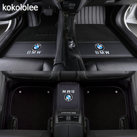 kokololee Custom car floor mats for BMW all model X3 X1 X4 X5 X6 Z4 525 520 f30 f10 e46 e90 e60 e39 e84 e83 car styling