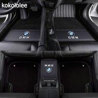 kokololee Custom car floor mats for BMW all model X3 X1 X4 X5 X6 Z4 525 520 f30 f10 e46 e90 e60 e39 e84 e83 car styling