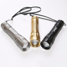 High Quality 2000LM Zoomable 3-mode Mini Protable18650 Battery LED Flashlight Torch Adjustable Focus Lamp Light