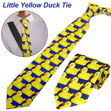 лучшая цена Barney Ducky New Hot Fashion Brand Tie How I Met Your Mother Ducky Tie Yellow Rubber Duck Necktie Ties