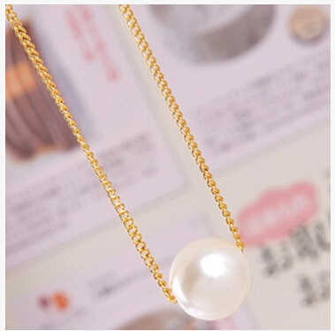Na006 mode coréenne simple Imitation perle tempérament collier court moderne perle clavicule chaîne bijoux en gros
