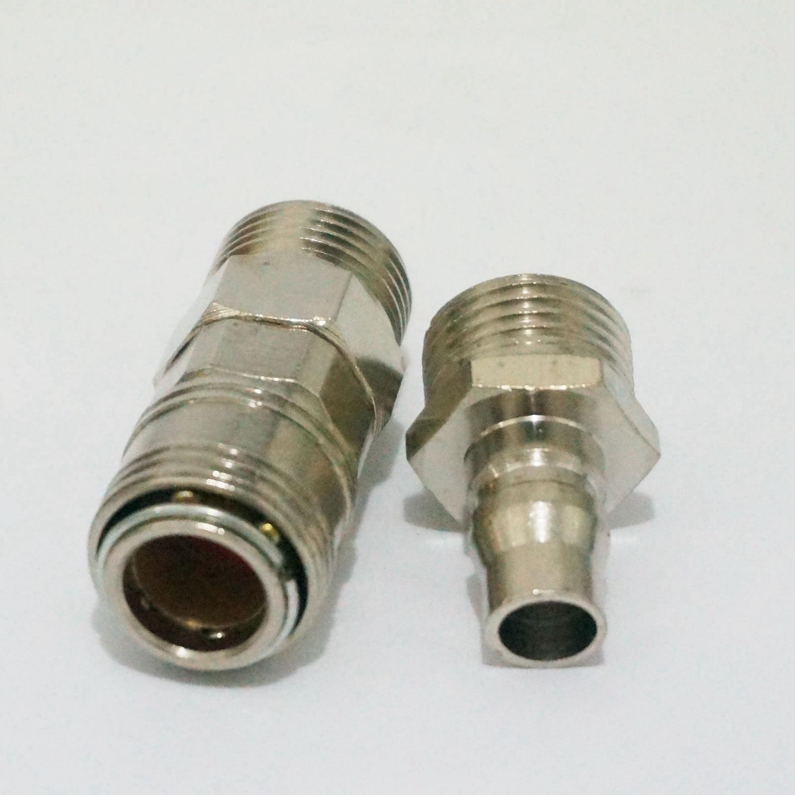 Conector neum/ático 12 piezas 1//4 pulgadas BSP macho hembra Conector de manguera de aire Acoplador de liberaci/ón r/ápida Acoplamiento neum/ático