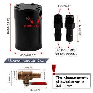 Image 3 - RYANSTAR שמן לתפוס יכול טנק לרכב 2 / 3 יציאת עם נשלף שסתום דלק שמן מפריד אוויר מירוץ אוניברסלי מבולבל