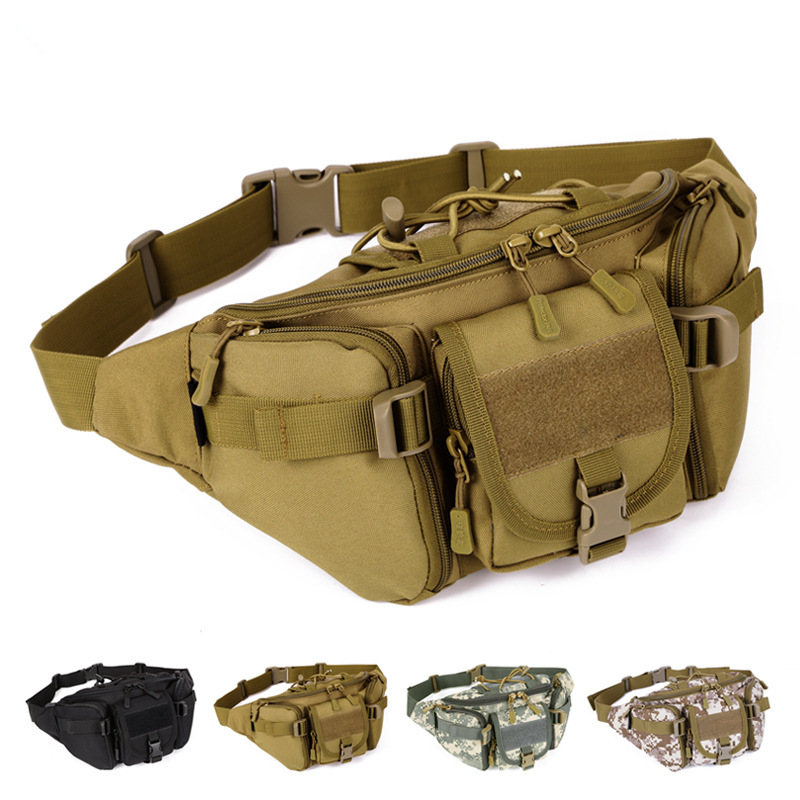 Image 2 - New Men Hip Packs Outdoor Waterproof Bag Male Tactical Waist Bag Molle System Pouch Belt Bagpack Sports Bags Military-in Waist Packs from Luggage & Bags