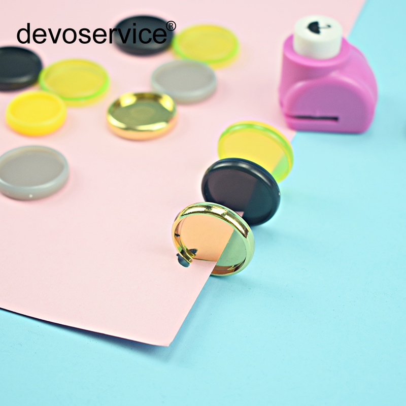New Creative Mushroom Single Hole Umbrella Loose Leaf DIY Punch Hand Paper  Binding Disc Punch Punches Office School Supplies
