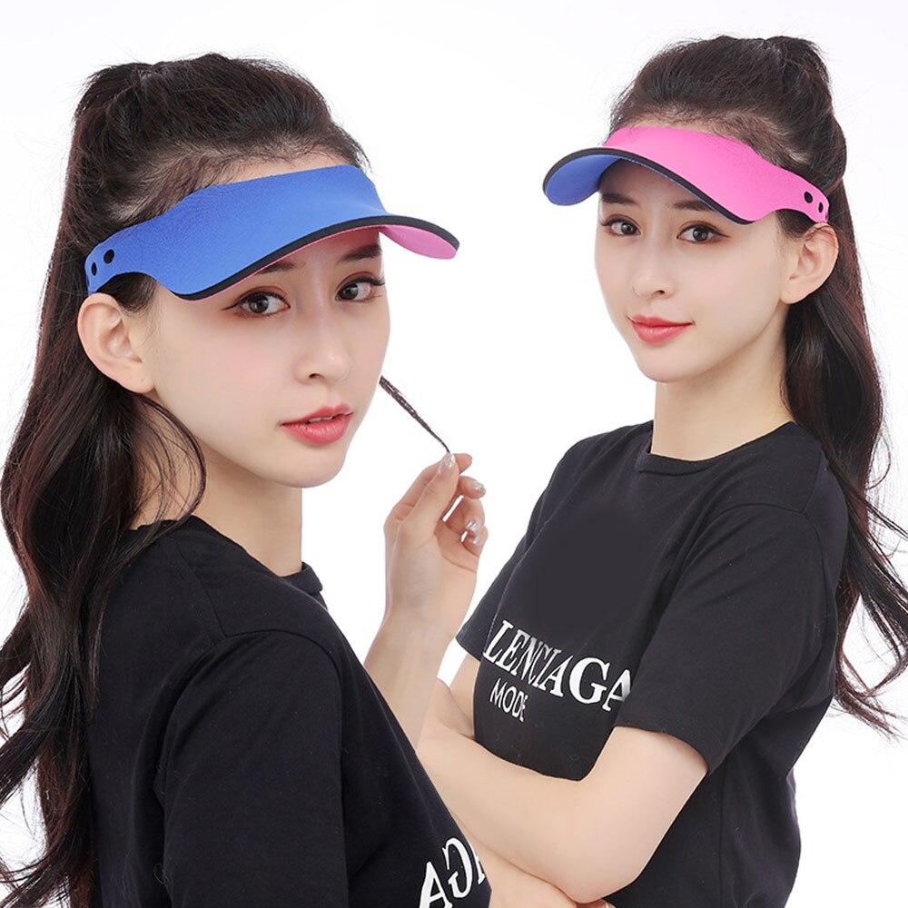1Pcs Sun Visor Hats Women Men Kids Summer UV Protection Beach Cap