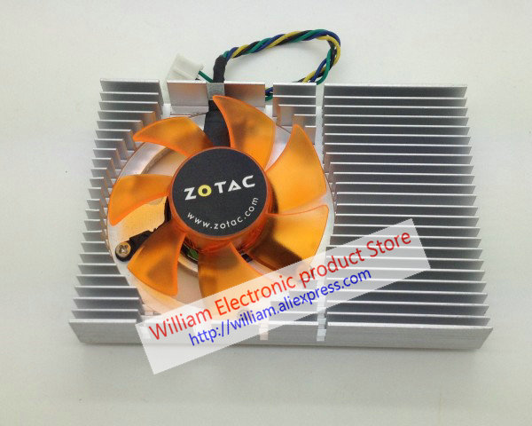 New Original for ZOTAC 9400gt geforce 9500 GT Graphics card cooler cooling fan Pitch 43MM FONSONING qqv6 aluminum alloy 11 blade cooling fan for graphics card silver 12cm