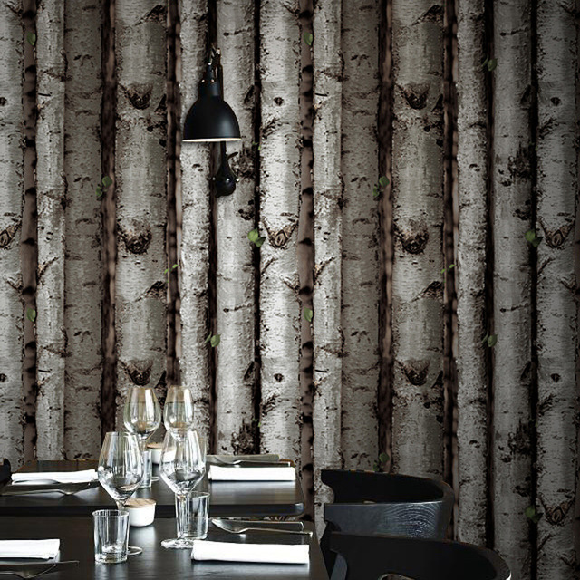 Looks Like Birch Tree Wood Wallpaper Roll For Walls Vinyl Wall Paper