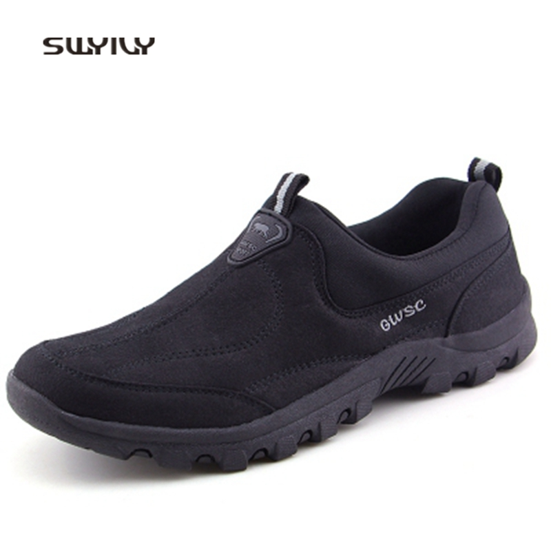 SWYIVY Men And Women Walking Shoes Nubuck Thick Warm Anti slip Sneakers 2018 Winter Ultra light