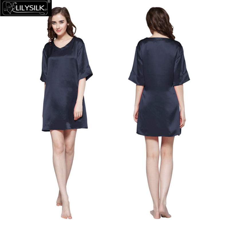 1000-navy-blue-22-momme-wide-v-neck-silk-nightgown