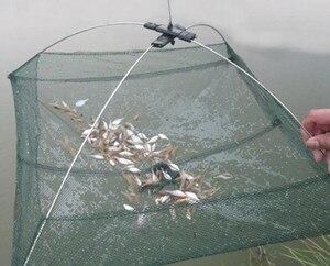 Image 3 - Nowa ulepszona wersja 4 boczne 60 100 cm, ryby, krewetki, kraby, nylon przynęty połowów netto składane łatwe do carry połowów netto