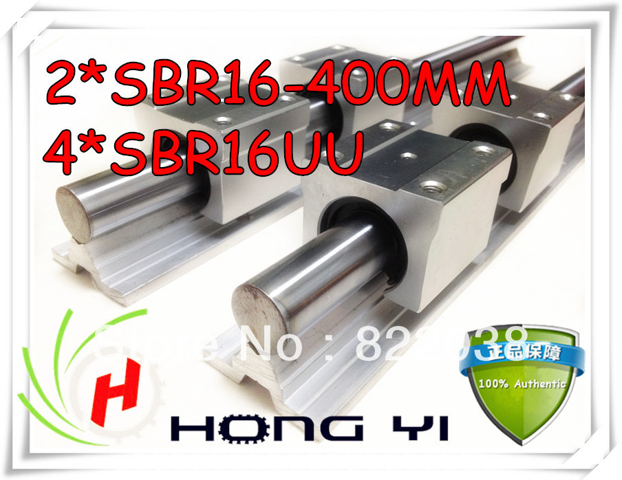 2 pcs SBR16 L = 400mm linear bearing supported rails +4 pcs SBR16UU straight-line motion block for SFU1605 Ball screw 2 pcs sbr16 l 400mm linear bearing supported rails 4 pcs sbr16uu straight line motion block for sfu1605 ball screw