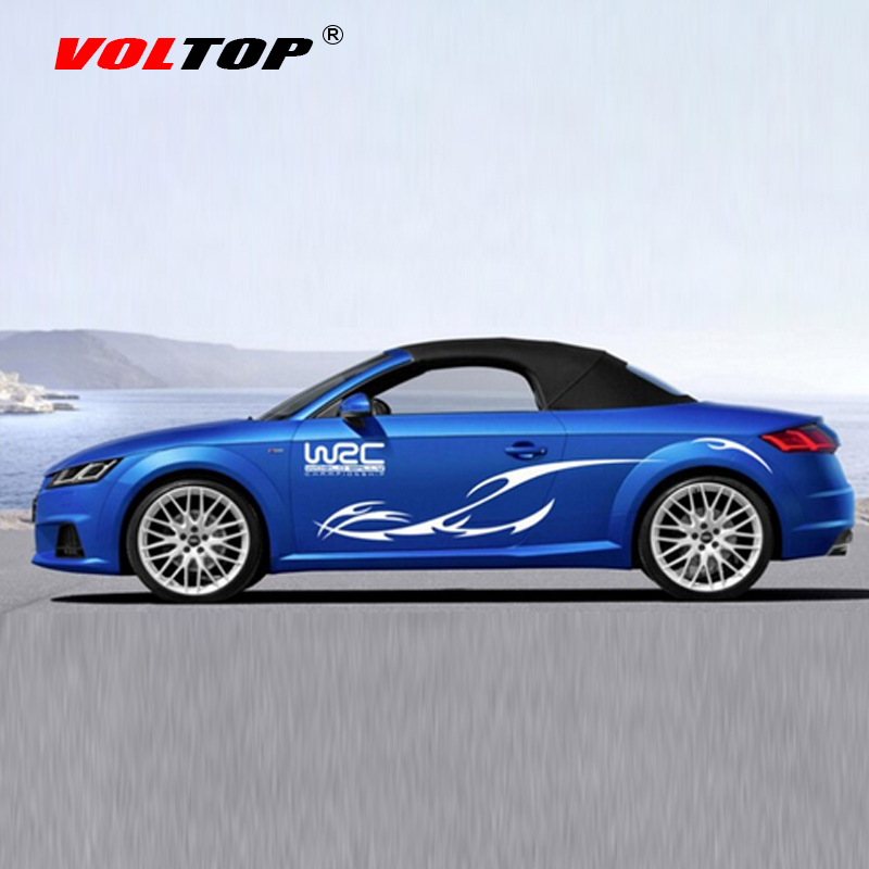 Voltop wrc racing car stickers whole body scratch cover for Automobile decoration accessories