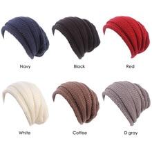 NEW women wrinkle slouchy hat knit beanie cap winter ski baggy
