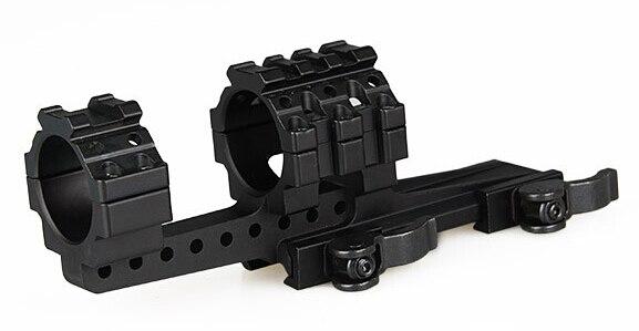 Support de portée tactique 30mm décalage QD anneau picatinny support de chasse de rail de tisserand pour portée de fusil ht298