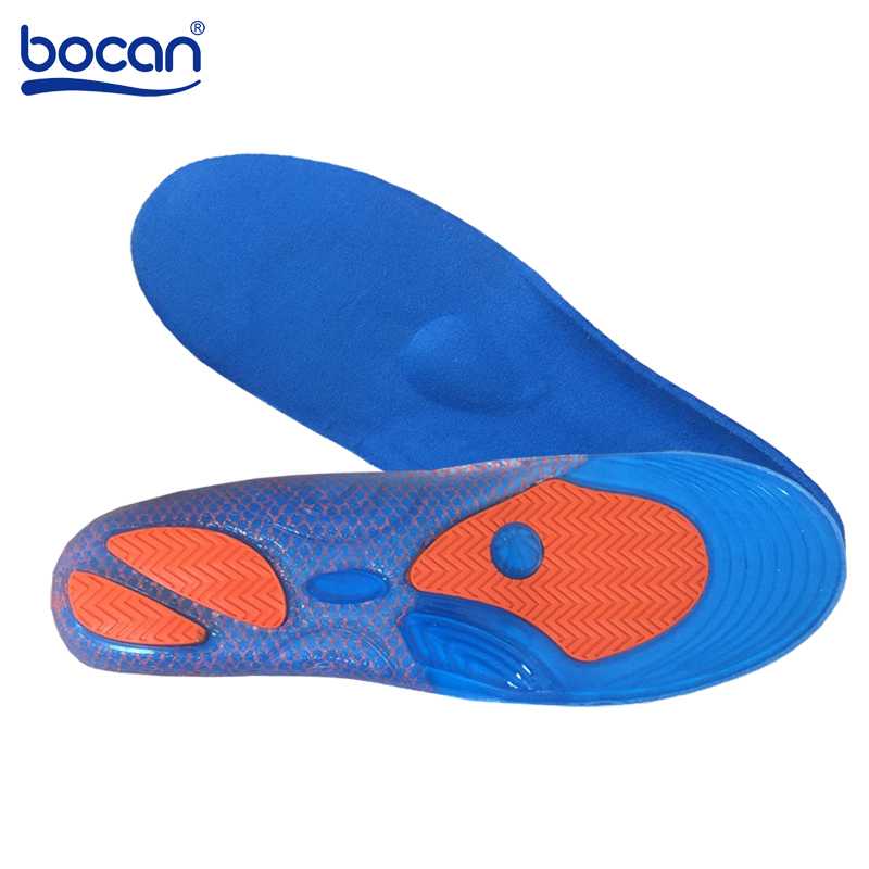 Bocan Gel Insoles Foot Care for Plantar Fasciitis Heel Spur Running Sport Insoles Shock Absorption Pads Arch Orthopedic Insole bocan gel insoles for spur plantar