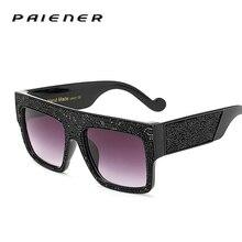 2017 Superdimensionada óculos de sol Das Mulheres de design Da Marca de Luxo Diamantes framen uv400 Óculos de condução óculos de sol Óculos oculos feminino