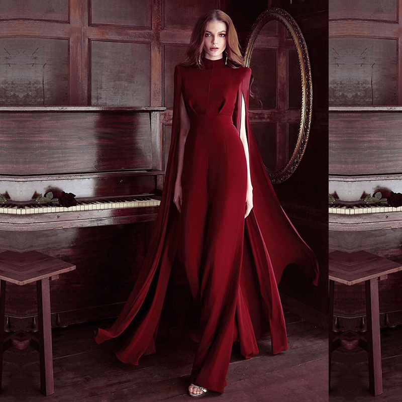 wine red jumpsuit-111