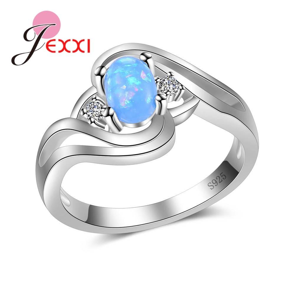 Verlobung Hochzeit Ringe Für Frauen Anillo Bijoux Jexxi 2019 Marke Mode 925 Sterling Silber Schmuck Cubic Zirkon Kristall