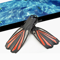Diving fins snorkel sanbao swimming adult professional training length adjustable professional long flippers