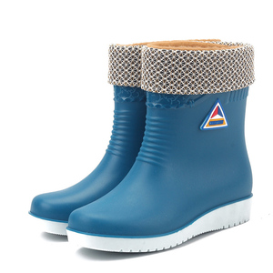 Image 5 - E TOY WORD Women Rubber Boots water boots Middle Tube rain Boots women Non slip Waterproof Lady Shoes Outdoor women winter shoes