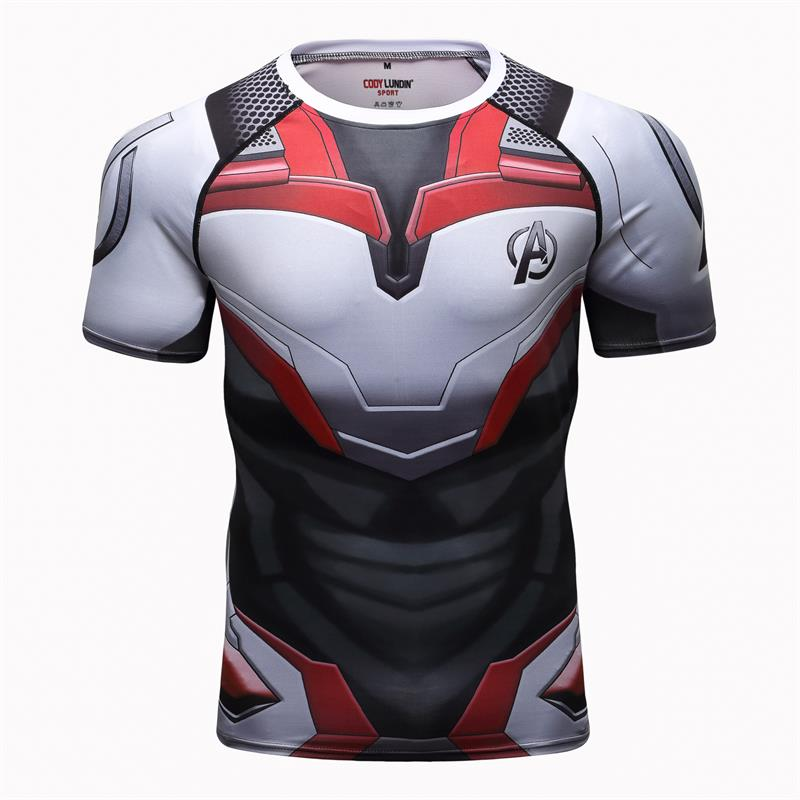 Avengers 4   t     shirt   endgame quantum war 3d print   t  -  shirts   men compression   shirt   Iron man costume gyms short sleeve tops for male