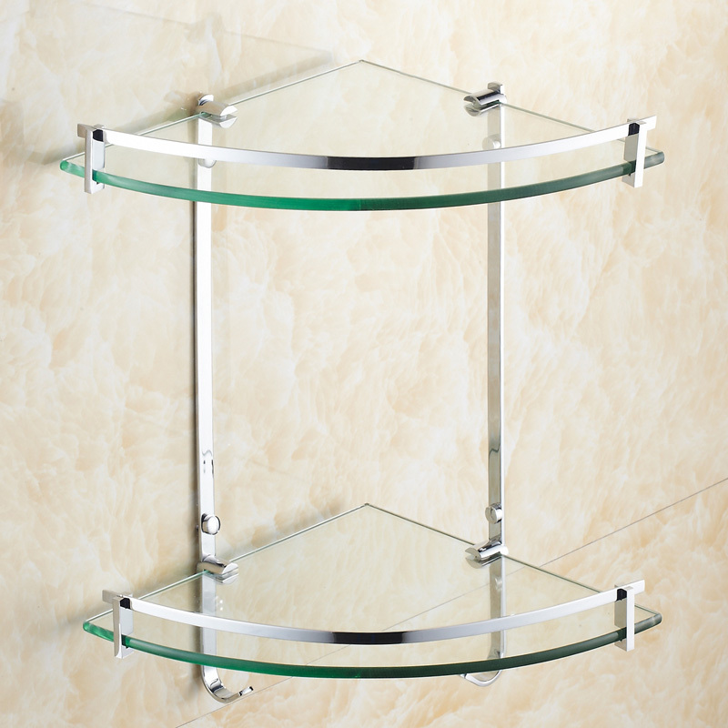 Bathroom Accessories In Pakistan brass dual tiers bathroom glass corner shelf bathroom accessories