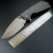 High quality D2 steel blade Bearing folding knife TC4 titanium alloy handle tactical camping knive EDC tool