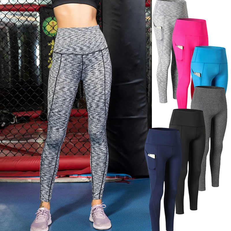 נשים יוגה מכנסיים גבוה מותן אלסטי מהיר יבש סקיני Slim Fit מכנסיים עבור ספורט IK88