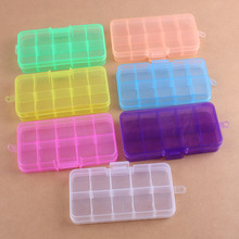 10 Slot New arrivel Jewelry Rectangle Display Storage beads Organizer Case Box 13.2*6.8*2.3cm(China)