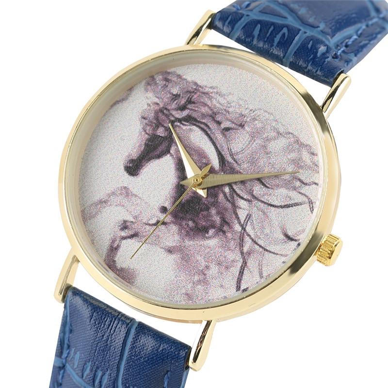 Twórcze kobiety zegarki Horse Ink Emblemat skórzany Bangle Ladies - Zegarki damskie - Zdjęcie 2
