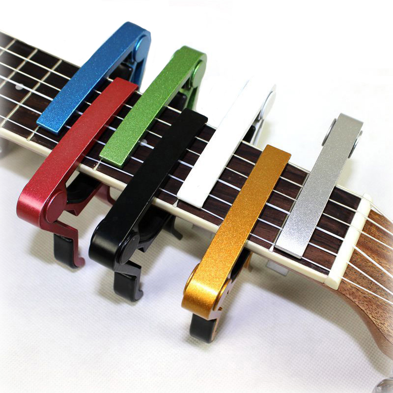 2017 New Silver Quick Change Clamp Key Acoustic Classic Guitar Capo For Tone Adjusting for Electric Acoustic Guitar Ukulele aluminium alloy quick change clamp key clip acoustic classic electric guitar capo for tone adjusting