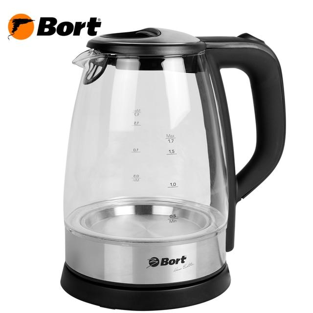 Чайник электрический Bort BWK-2017G (Мощность 2000 Вт, подсветка, объем 1.7л., защита от перегрева)