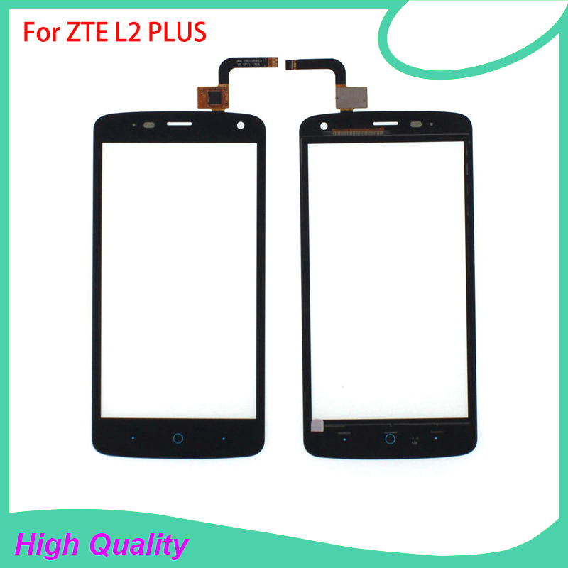 100% Tested Free Shipping Touch Screen Digitizer For ZTE L2 PLUS Glass Panel High Quality