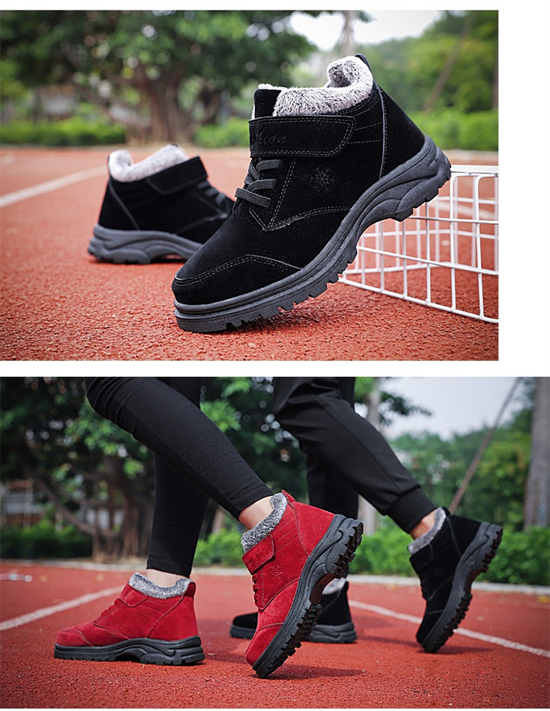 Fashion Winter Snow Boots Women Warm Casual Shoes Lace Up Waterproof Women Ankle Boots Non-Slip Rubber Sole Ladies Shoes XZ85 (17)