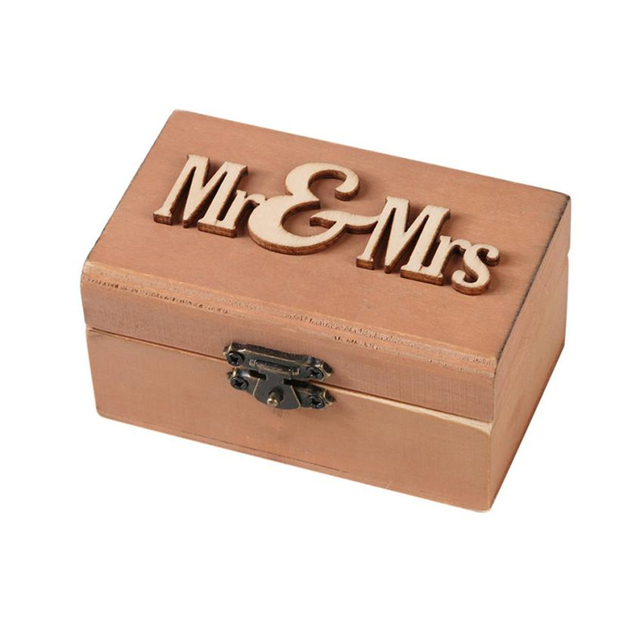 2018 New Creative Eco Friendly Personalized Retro Wedding Ring Box Holder Shabby Chic Rustic Wooden