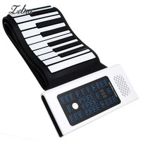 Hot BR A 88 Keys Rechargeable Keyboard Roll Up Piano With Microphone Speaker Musical Instrument Electric Accessory