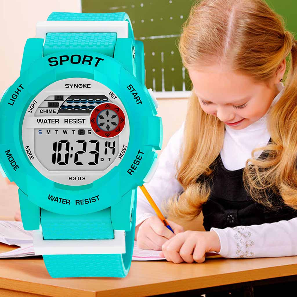 children's watch Student Sports Electronic Watch Fashion Watch Multi Function Luminous Waterproof kids watches montre enfant